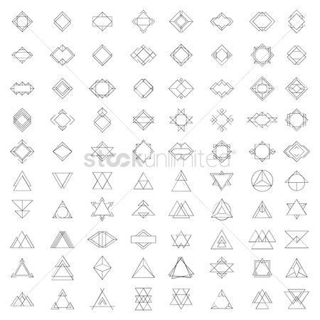 Borders : Set of geometric frames and badges