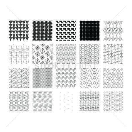 Geometrics : Set of geometric lines pattern