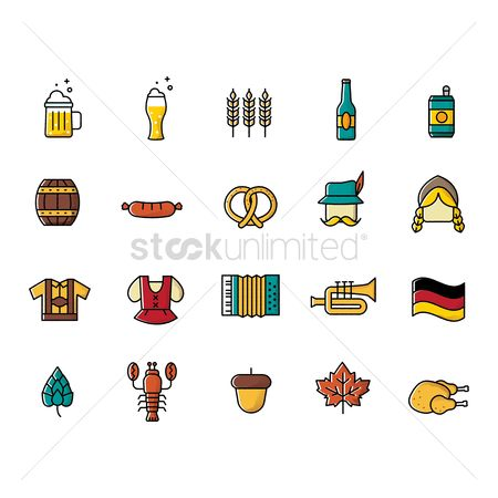 Trumpets : Set of germany icons