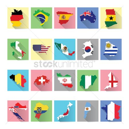 Belgium : Set of global map icons