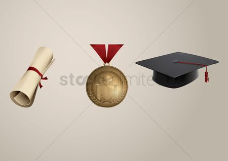 Achievements : Set of graduation icons