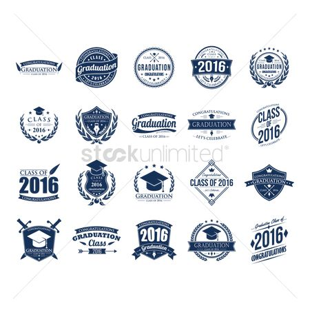 Shield : Set of graduation labels
