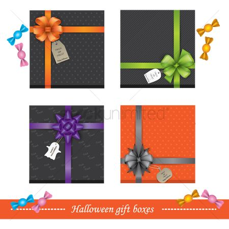 Spirit : Set of halloween gift boxes