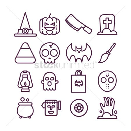 Oil : Set of halloween icons