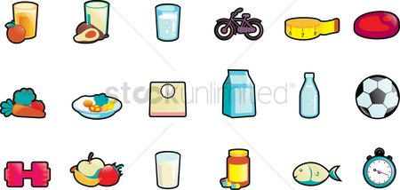 Drinking : Set of health icons