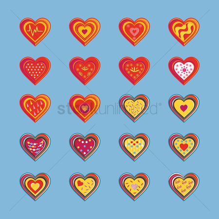 Toppings : Set of heart icons