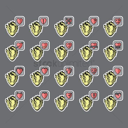 Conditioning : Set of heart icons