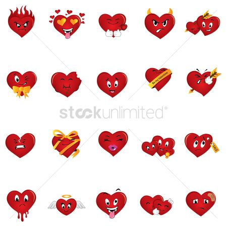 Drippings : Set of hearts