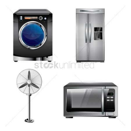 Temperatures : Set of home appliances