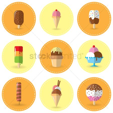 Cones : Set of ice cream
