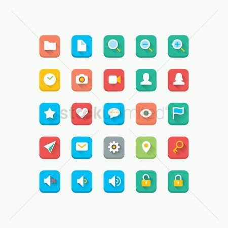 Volume : Set of icons