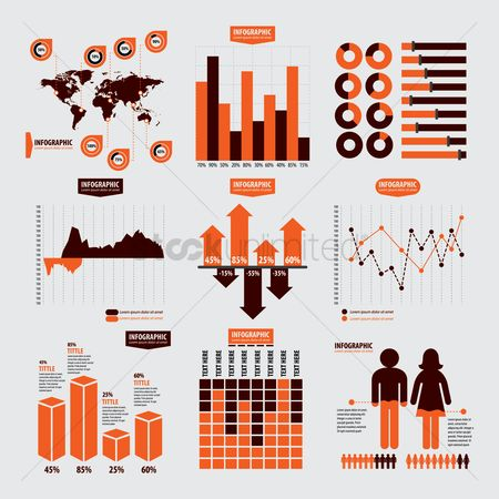 Reports : Set of infographic template icons