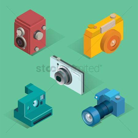 Photography : Set of isometric cameras