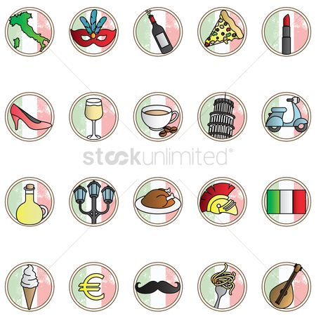 Scooters : Set of italian icons