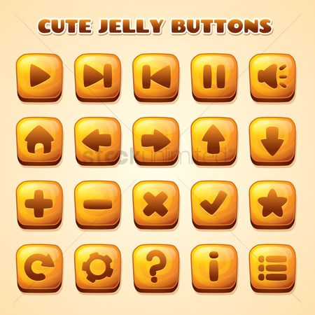 Favourites : Set of jelly buttons