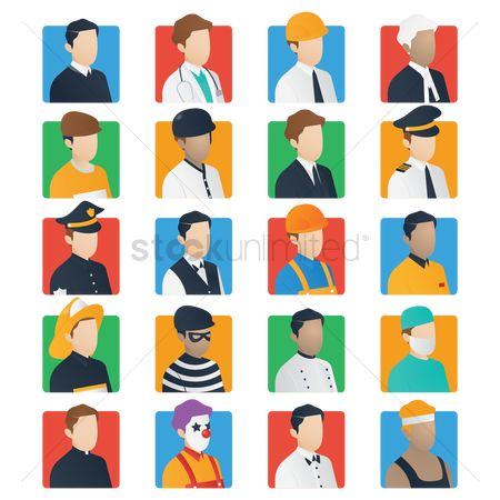Baseball : Set of job icons