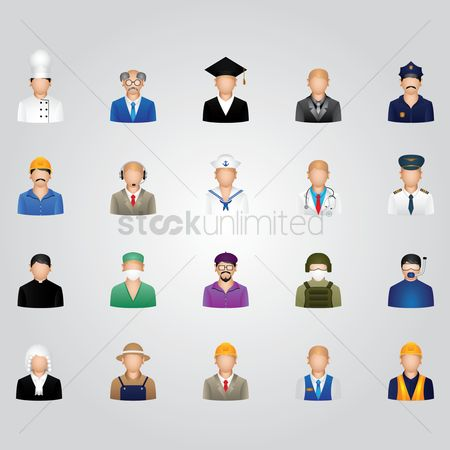 Priest : Set of job icons