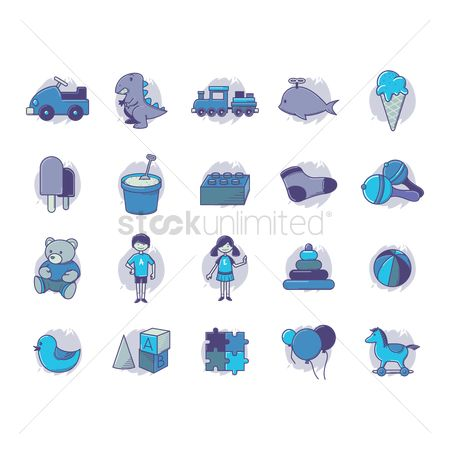 Jigsaw : Set of kids icon