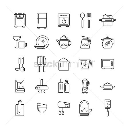 Washing machine : Set of kitchen equipment