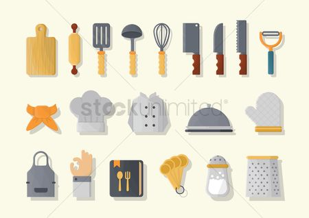 Spoons : Set of kitchen icons