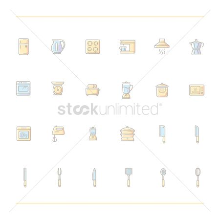 Stove : Set of kitchen icons