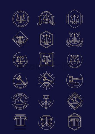 Hammers : Set of law design icons