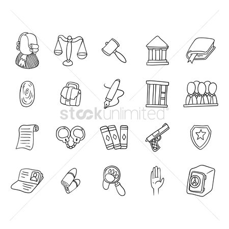 Panels : Set of law icons