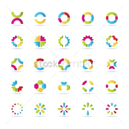 Graphic : Set of logo elements