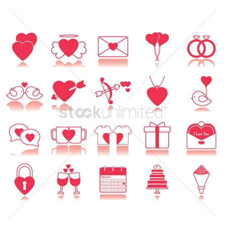 Gifts : Set of love icons