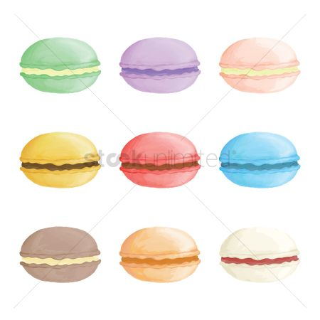 Flavors : Set of macarons