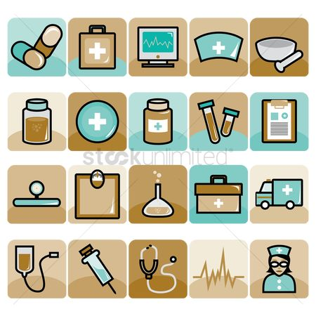 Doctor : Set of medical icons