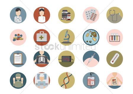 Surgeon : Set of medical icons