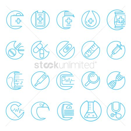 Health cares : Set of medical icons