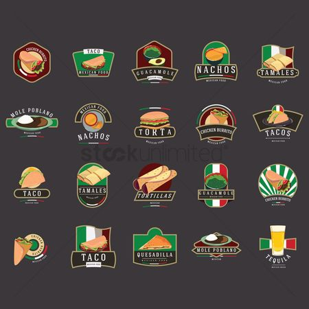 Slice : Set of mexican foods