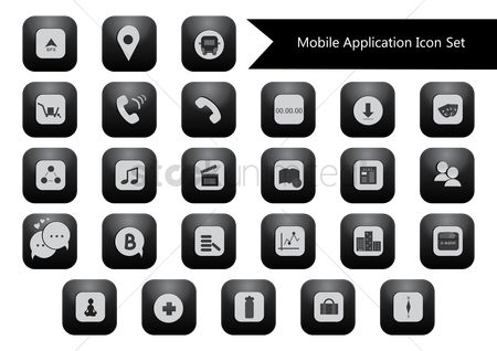 Icons news : Set of mobile icons