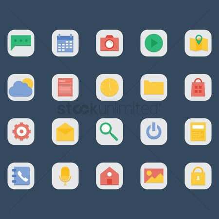 Minute : Set of mobile icons