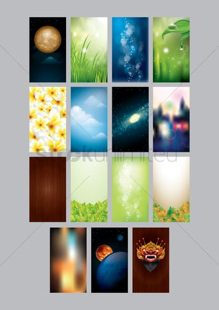 Screens : Set of mobile interface wallpapers