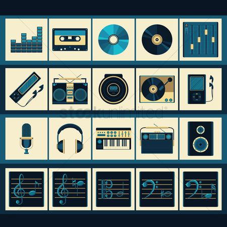 Volume : Set of music icons