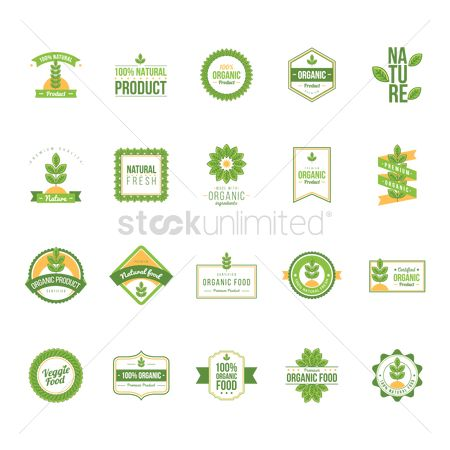 Health : Set of natural product labels