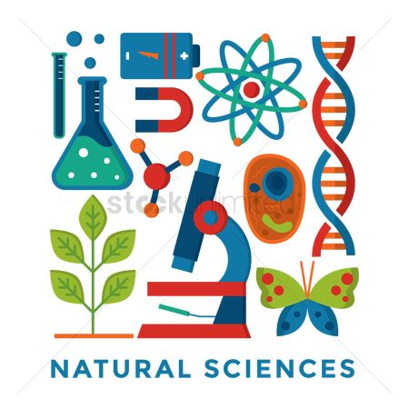 Dna : Set of natural science icons