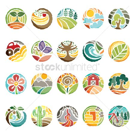 Mountains : Set of nature icons