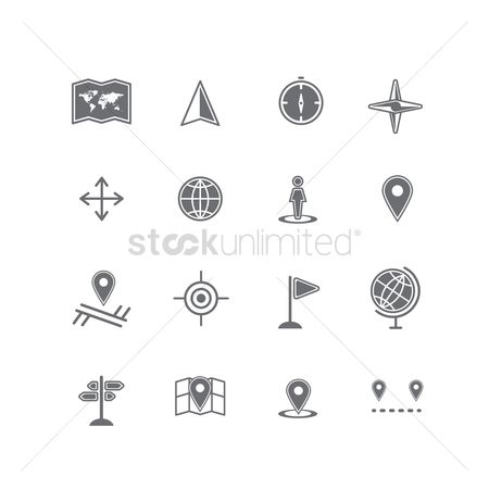 Signages : Set of navigation icons