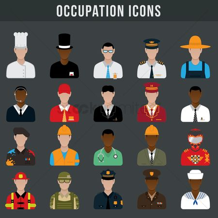 Teacher : Set of occupation icons