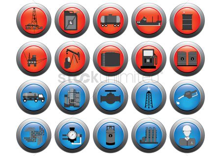 Petroleum : Set of oil gas icons