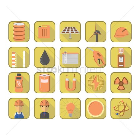 Oil drum : Set of oil gas icons