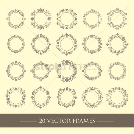 Vintage : Set of ornamental design frames