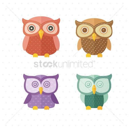 Owl : Set of owls