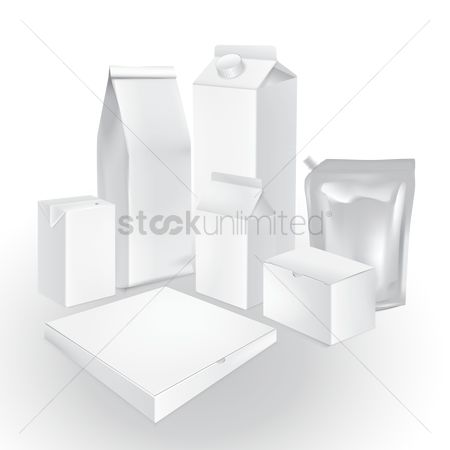 Dairies : Set of packaging boxes