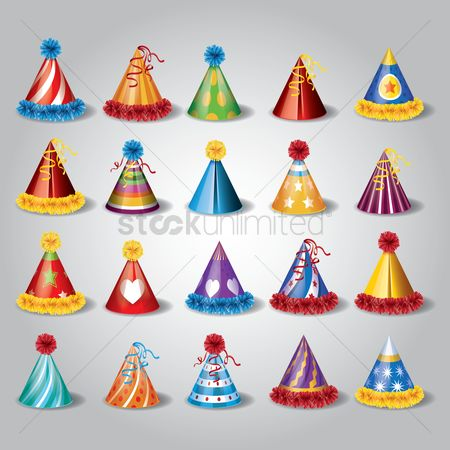 Accessories : Set of party hats