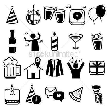 Coats : Set of party icons